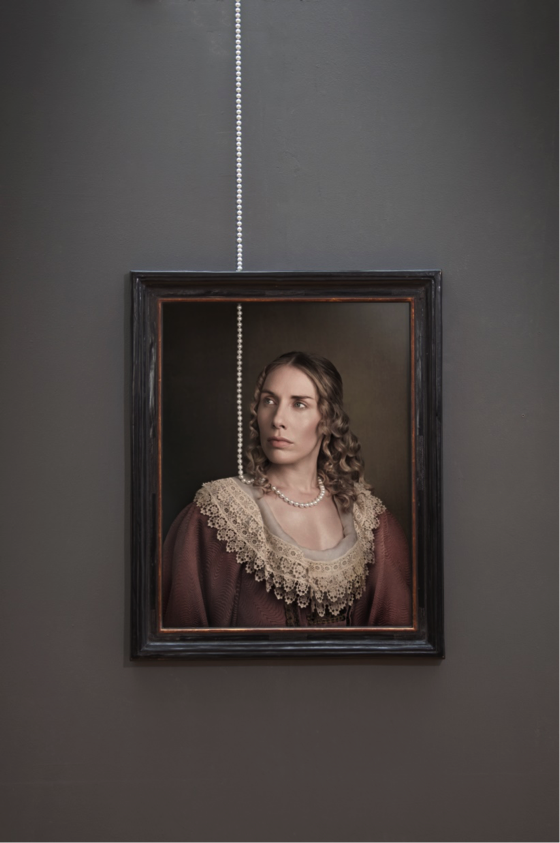 Maisie Broadhead, Hung, 2016. Ed.6 Digital c-type and pearls | Photograph © Sarah Myerscough Gallery, London