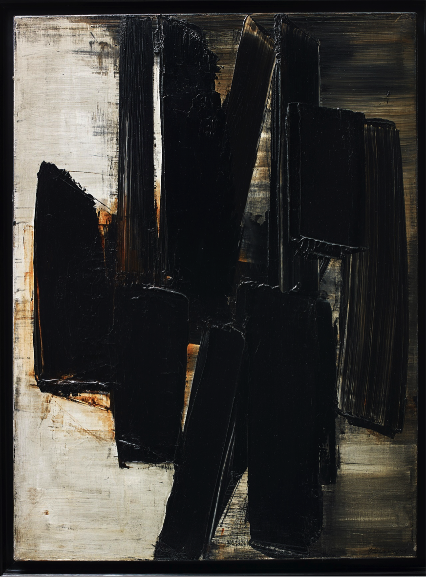 Pierre Soulages, Peinture, 81 x 60 cm, 3 juin 1957, 1957, oil on canvas, Photograph © Waddington Custot Galleries