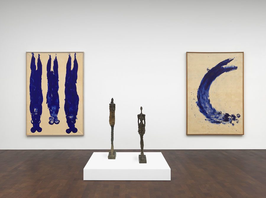 Alberto Giacometti, Yves Klein, In Search of the Absolute, Installation view, 2016