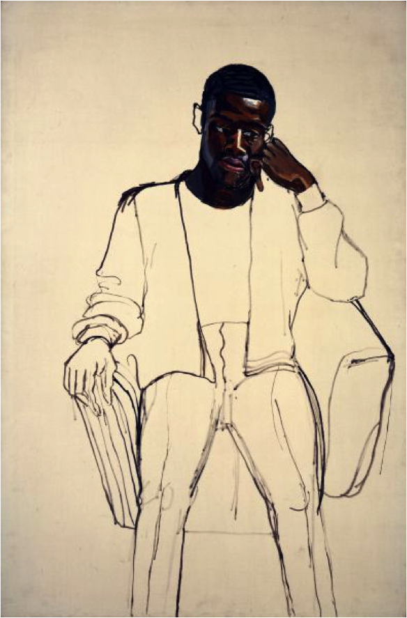 Alice Neel, James Hunter Black Draftee, 1965. oil on canvas