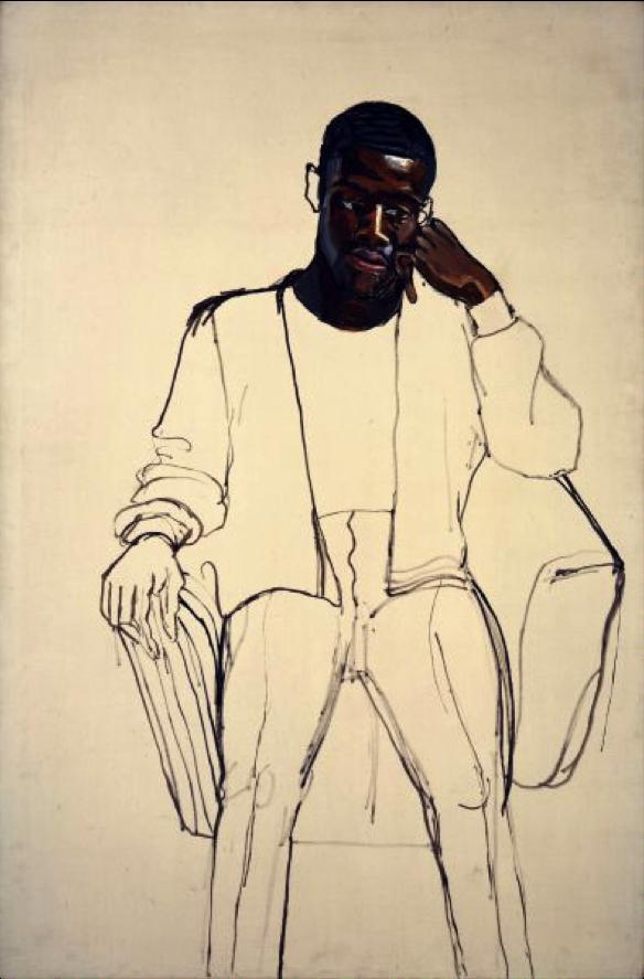 Alice Neel, James Hunter Black Draftee, 1965. oil on canvas