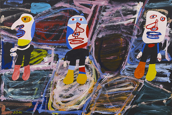 Jean Dubuffet, Inspection du territoire (F 141), acrylic on canvas-backed paper,1982