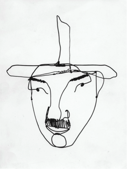 Wire portrait of F. Léger, 1930. Photograph: Calder Foundation, New York