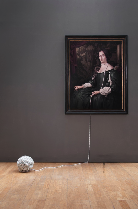 Maisie Broadhead, Ball and Chain, 2016. Ed.6 Digital c-type and pearls |Photograph © Sarah Myerscough Gallery, London