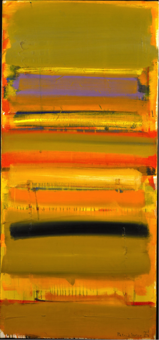 Patrick Heron, Ochre Skies: April 1957, 1957, oil on canvas, Photograph © Waddington Custot Galleries
