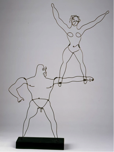 Two Acrobats,1929. Photograph: Calder Foundation, New York