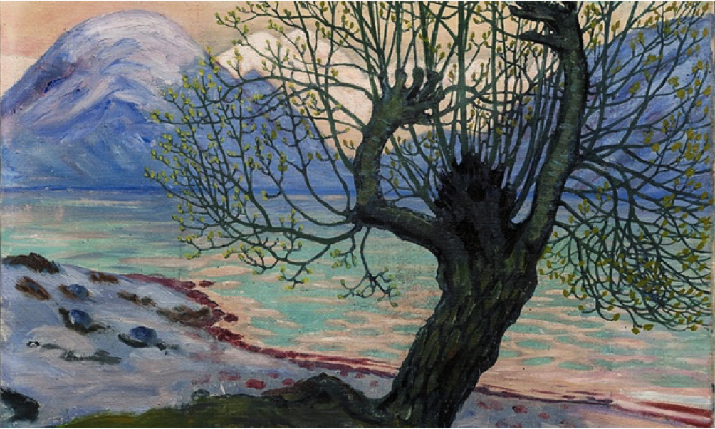 Nikolai Astrup , A Morning in March,1920, oil on canvas