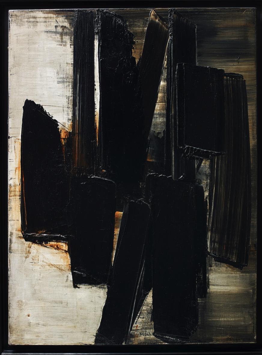 Pierre Soulages, Peinture, 81 x 60 cm, 3 juin 1957, 1957, oil on canvas, Photograph © Waddington Custot Galleries