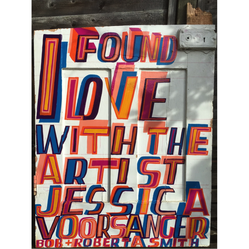 Bob and Roberta Smith, I Found Love, 2016 © Bob and Roberta Smith