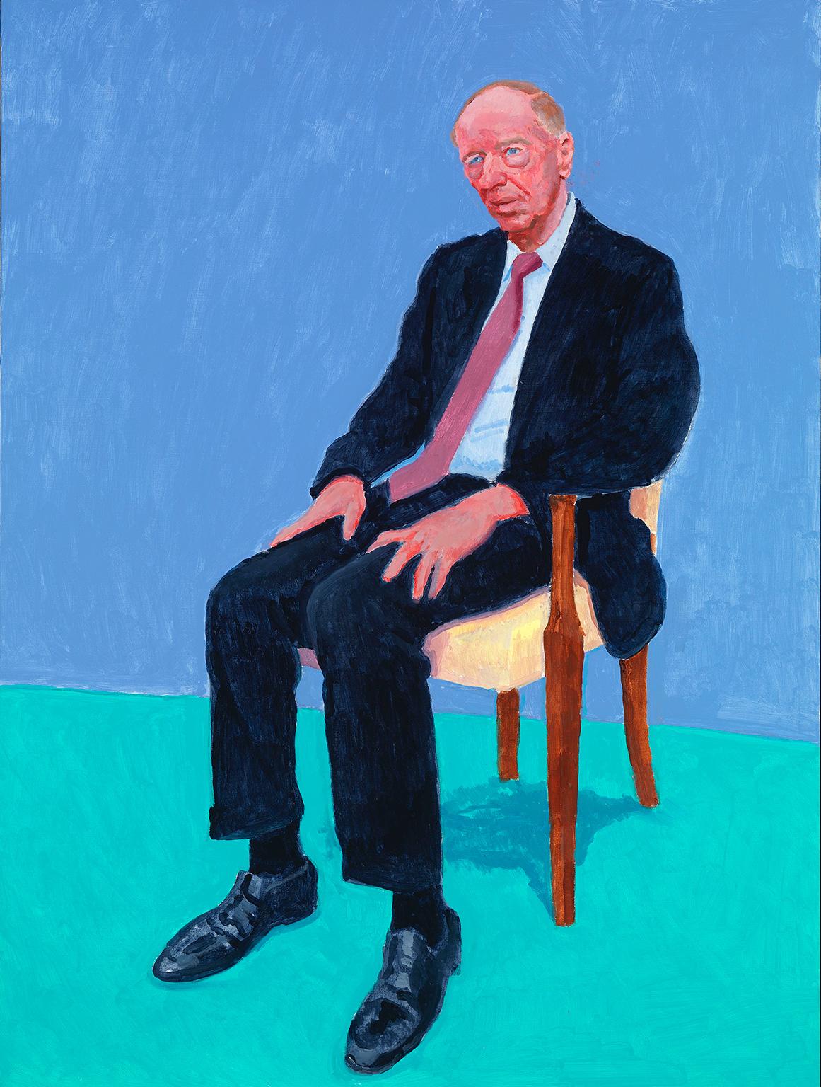 David Hockney, Lord Jacob Rothschild, 5-6 February, 2014 © David Hockney. Photo credit: Richard Schmidt